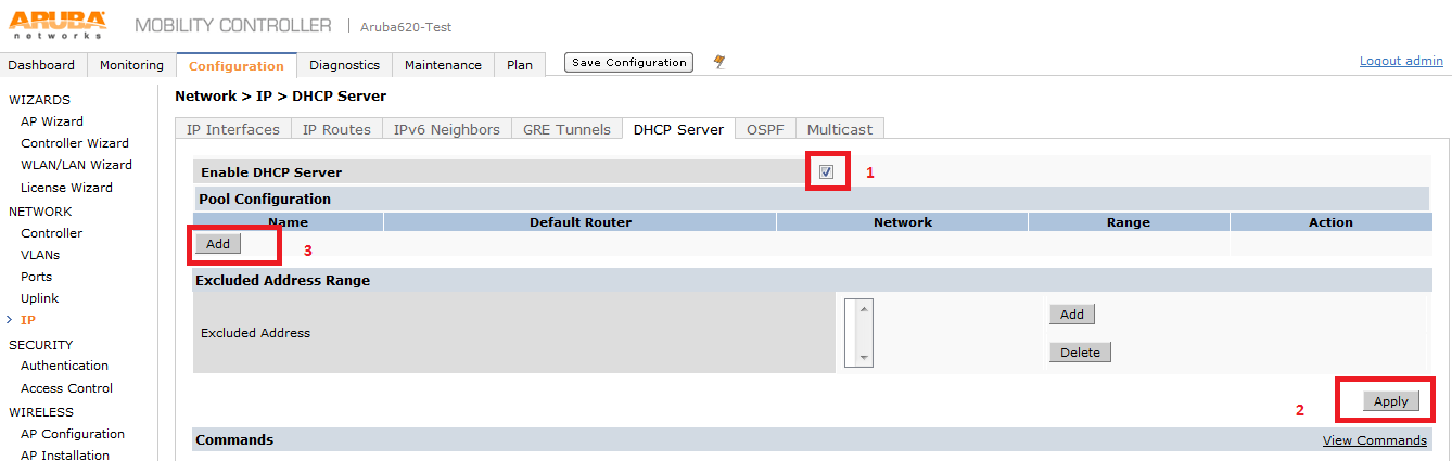 Day out with Aruba Controller 620 – Initial Configuration – Part 1