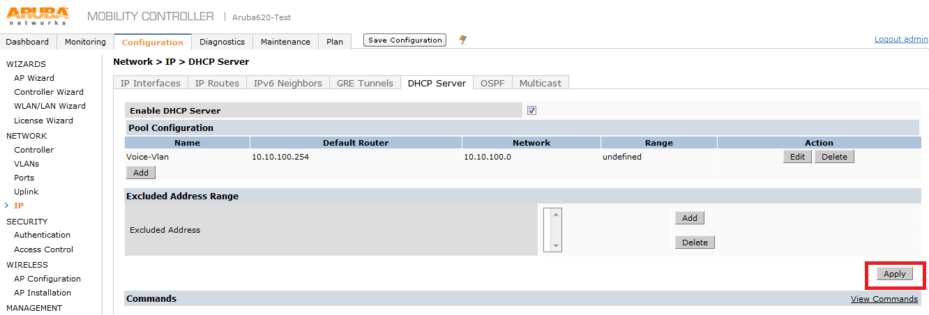 Day out with Aruba Controller 620 – Initial Configuration