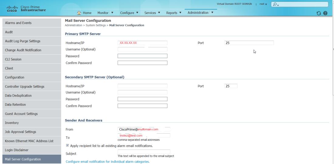 2014_07_03_17_38_35_Cisco_Prime_Infrastructure_Mail_Server_Configuration_172.20.74.187