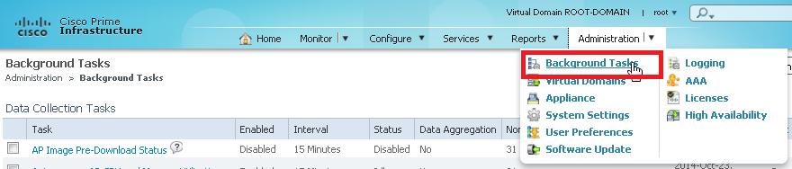 2014_10_23_15_56_52_Cisco_Prime_Infrastructure_Scheduled_Tasks_172.20.74.187