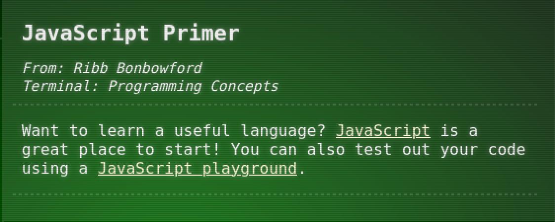 JavaScript Primer