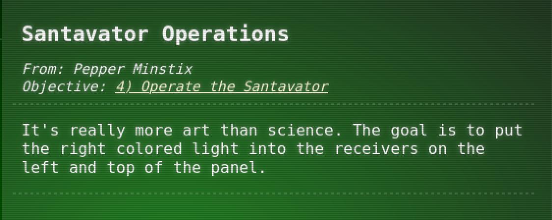 Santavator Operations
